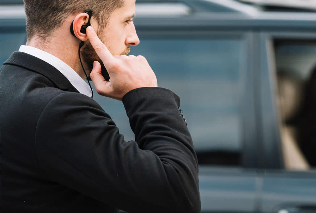 Mobile Escort Security escorting private client