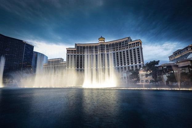 Bellagio Fountains on the Las Vegas Strip